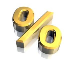 simbolo della percentuale  fondo bianco