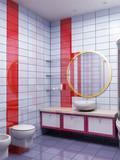 3d bathroom rendering poster
