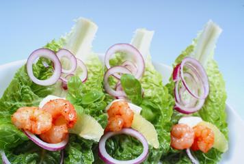 shrimpssalat, nahaufnahme
