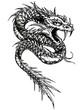 drachen-schlange-tattoovorlage