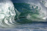 giant wave crashing poster
