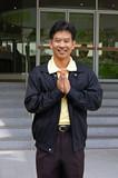 thai man greeting poster