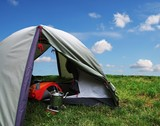 tent on grass