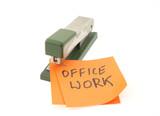 metaphor of office work poster