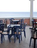 restaurant on the seaside poster