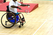 wheel chair badminton for disabled persons