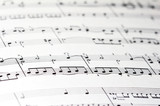 Fototapety musik notenblatt