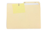 notepaper and file folder poster