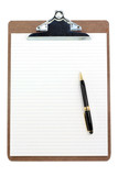clipboard and lined paper poster