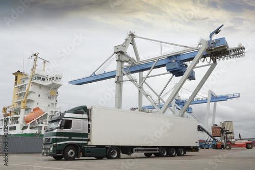 Truck In Port