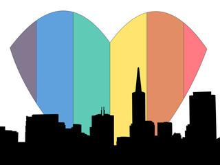 san francisco rainbow heart