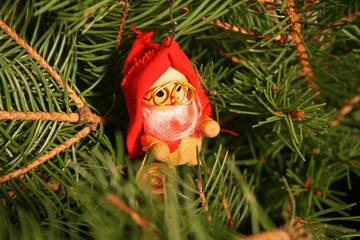 little santa tree decoration