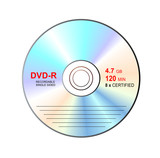 dvd-r with label poster