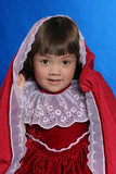 little girl with hood. poster