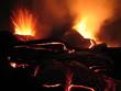 cratères en eruption
