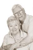 happy senior couple poster