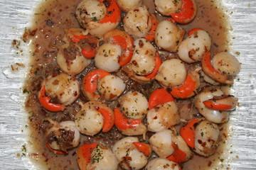 assiette de coquilles saint-jacques