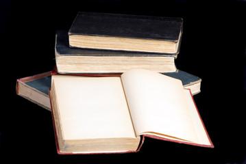 old books on black 2