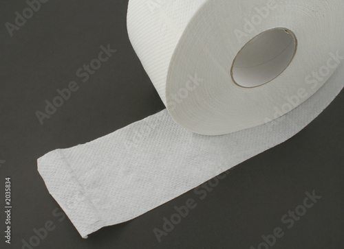 toilet paper roll on black