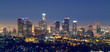 los angles skyline at night