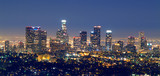 Fototapety los angles skyline at night