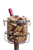champagne with corks poster