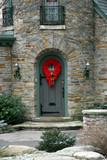 turret door with wreath poster