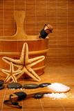 sauna and spa treatment poster