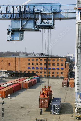 container crane at work