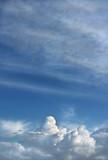 cumulus and cirrus clouds poster