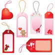 romantic love themed gift tags