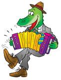 funny crocodile poster