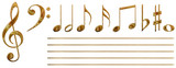 musical notes (gold)