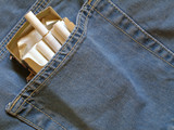 cigarettes pack within pocket poster