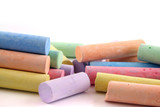 loads of colored chalks 2 poster