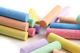 loads of colored chalks poster