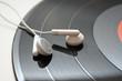 headphones and record