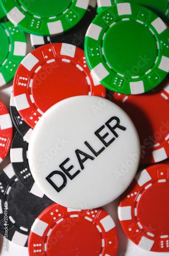 poker dealer chip