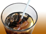 soda glass poster