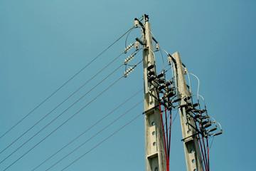 power-line poles