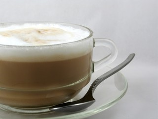 cup of frothy coffee cappuccino
