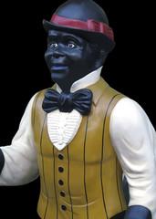 elegant statue of man in a vest