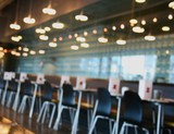 restaurant cafe interior poster