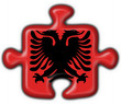 bottone puzzle albanese - albania flag