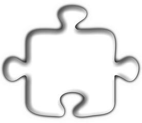 bottone puzzle bianco -  white button flag