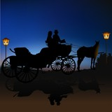 carriage silhouette b poster