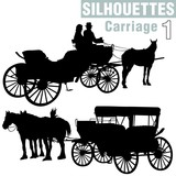 silhouettes carriage 1 poster