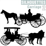 silhouettes carriage 2 poster