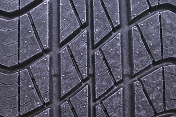 frosted car tyre