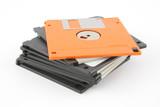 stack of floppy disks poster